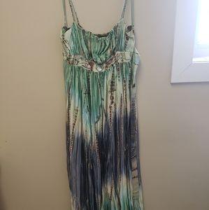 Side L BCBG Max Azria Beaded Maxi Summer Dress